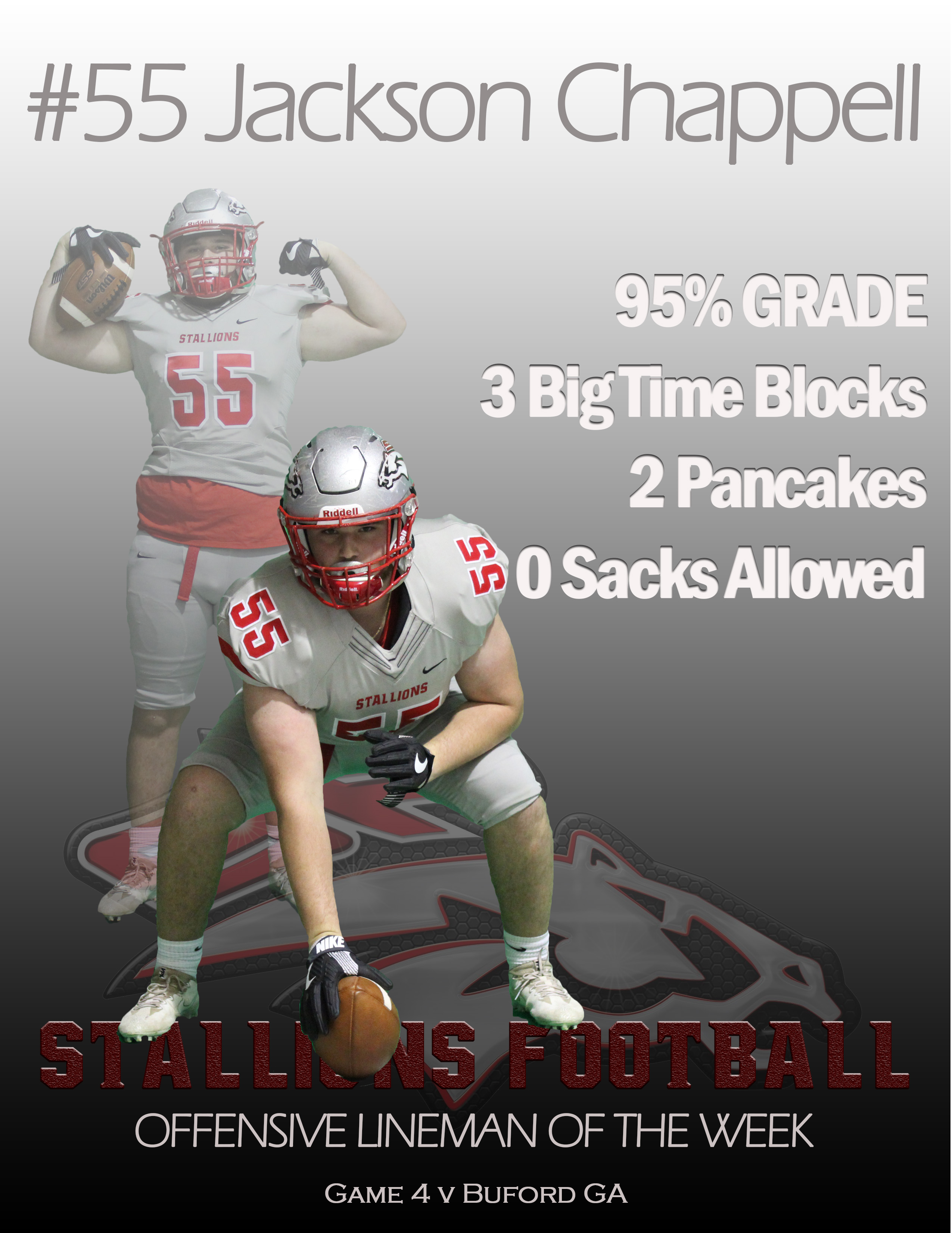 #55 Jackson Chappell Offensive Lineman of the Week