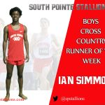 Ian Simmons Boys Cross Country Runner of the Week