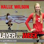 #3 Halle Wilson Volleyball Player of the Week