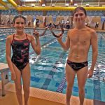Kyra & Pierce Swimmers of the Meet