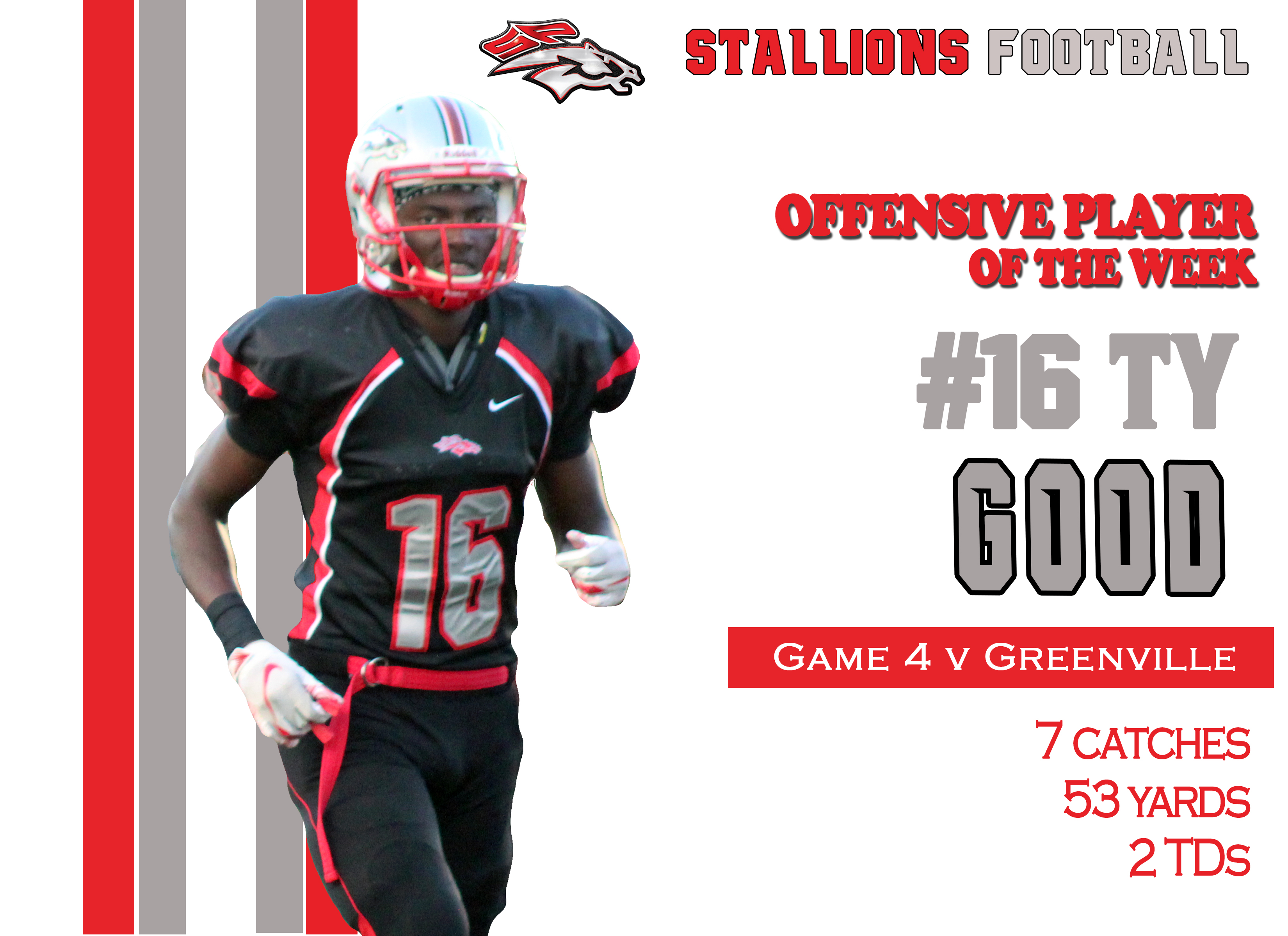 #16 Ty Good Offensive Player of the Week