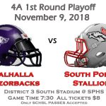 1st Round Playoff November 9th v Walhalla