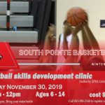 Basketball Clinic – Nov 30th  9am-12pm  Cost $35
