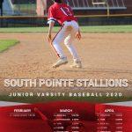 SPHS 2020 JV Baseball Schedule