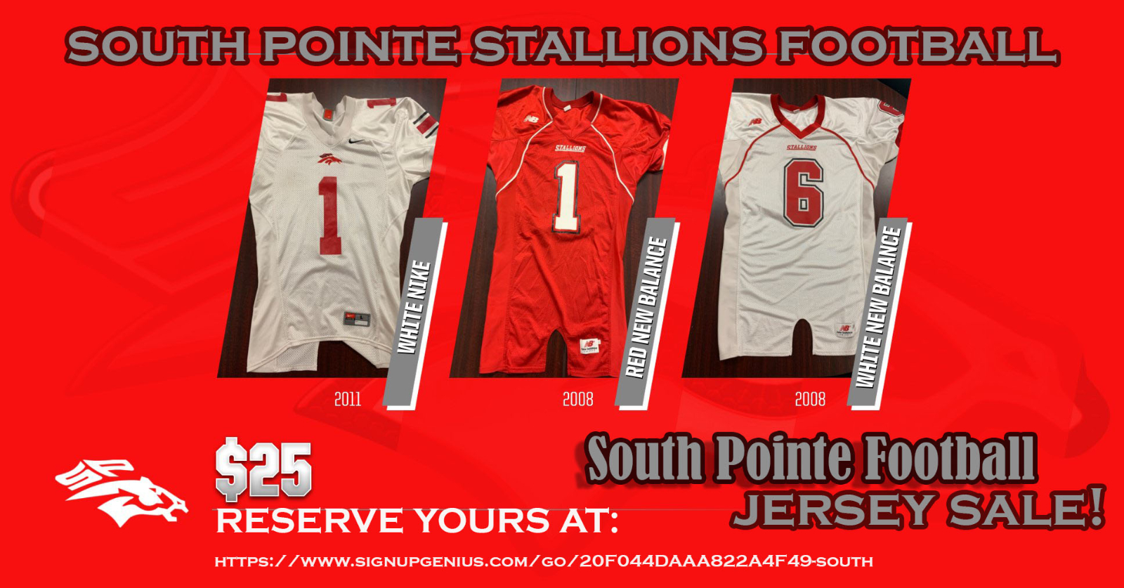 Stallions Football Jersey Sale – now through August 14th