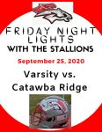 South Pointe Varsity Football Program Sept 25 v. Catawba Ridge