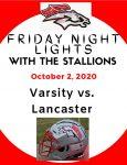 Varsity Football Program 10/2/2020