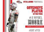 #2 Nygel Moore Offensive Player of the Week