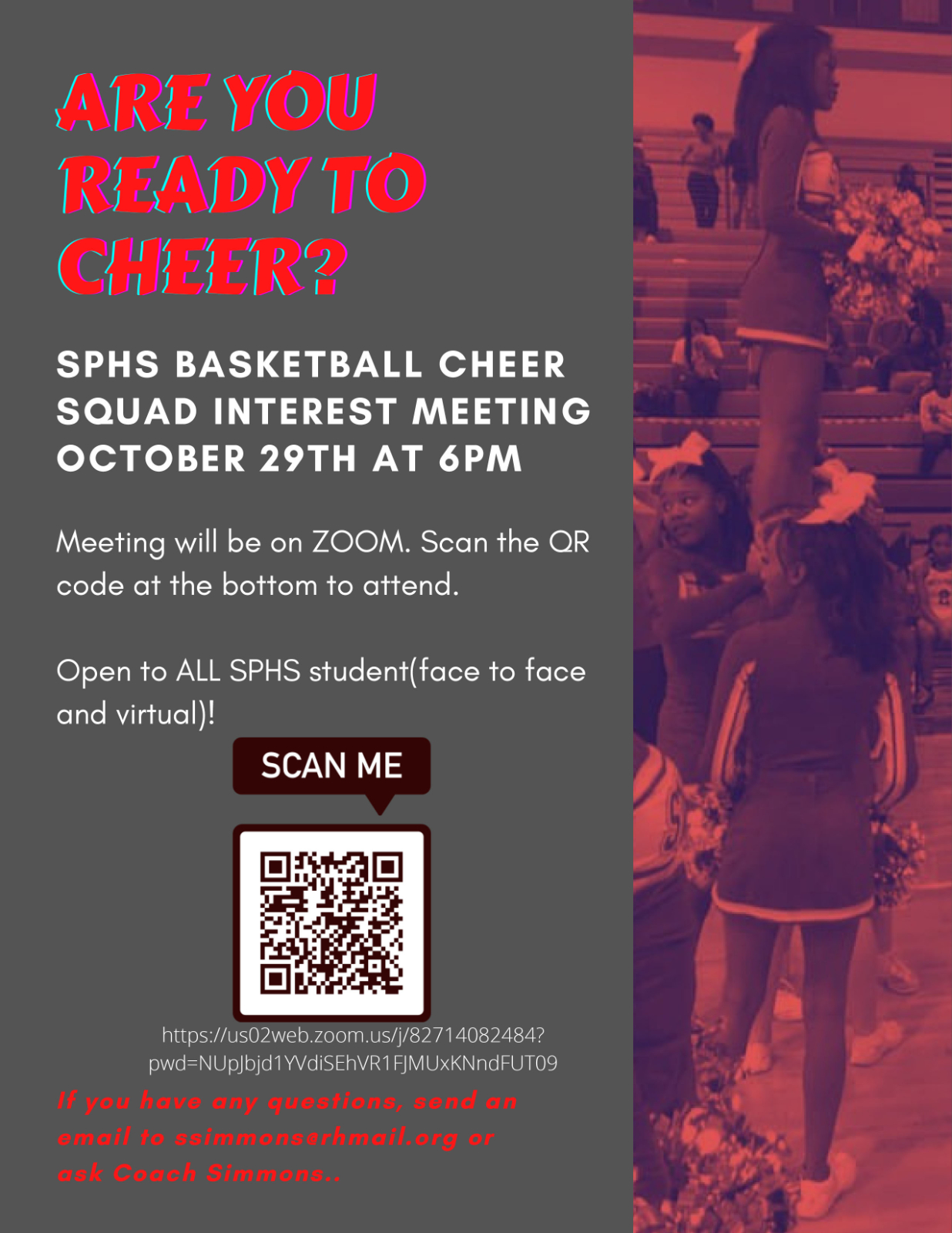 Basketball Cheer Tryout Info Meeting