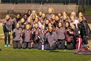 2017 Girls JV & Varsity Track MI Meet Champions