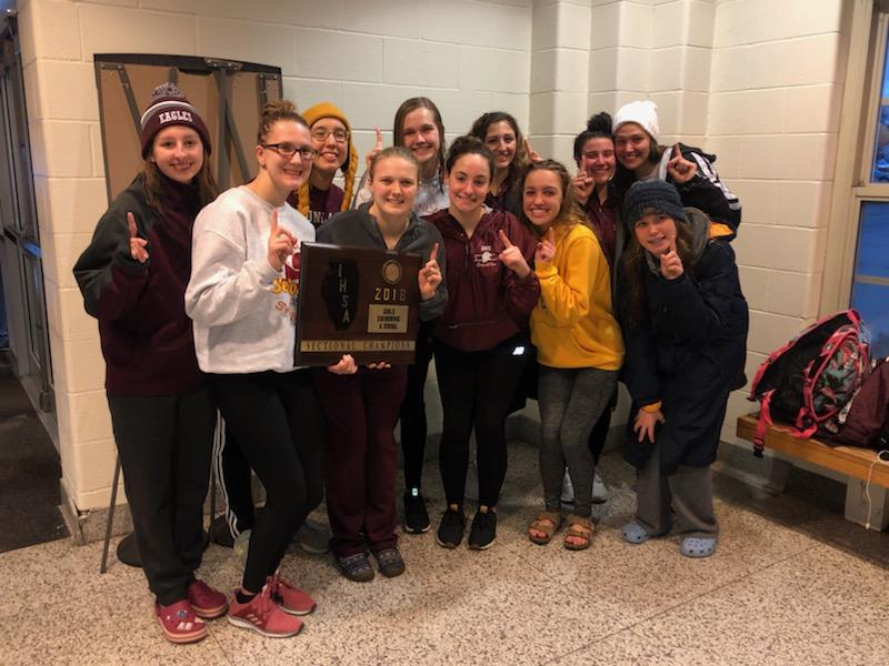 Girls' Swim Team Wins Sectional Championship