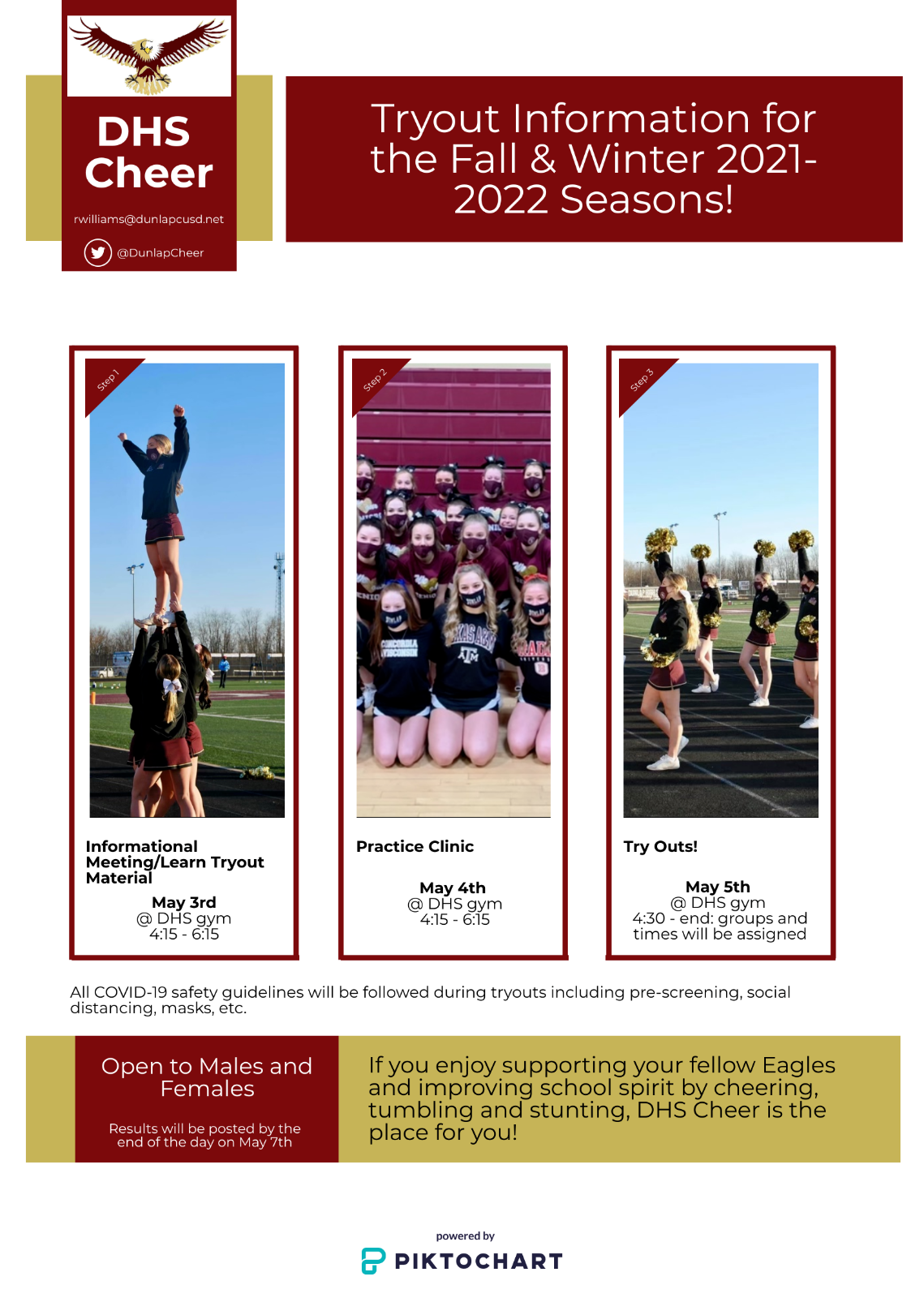 2021-2022 Cheerleading Tryouts