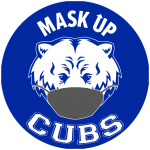 Mask Up Cubs, Cubs Logo Masked
