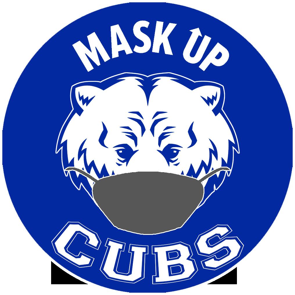 Mask Up Cubs, Cubs Logo Masked