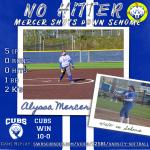 Mercer throw No Hitter