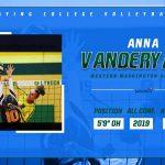 Anna Vanderyacht playing volleyball at Western Washington University