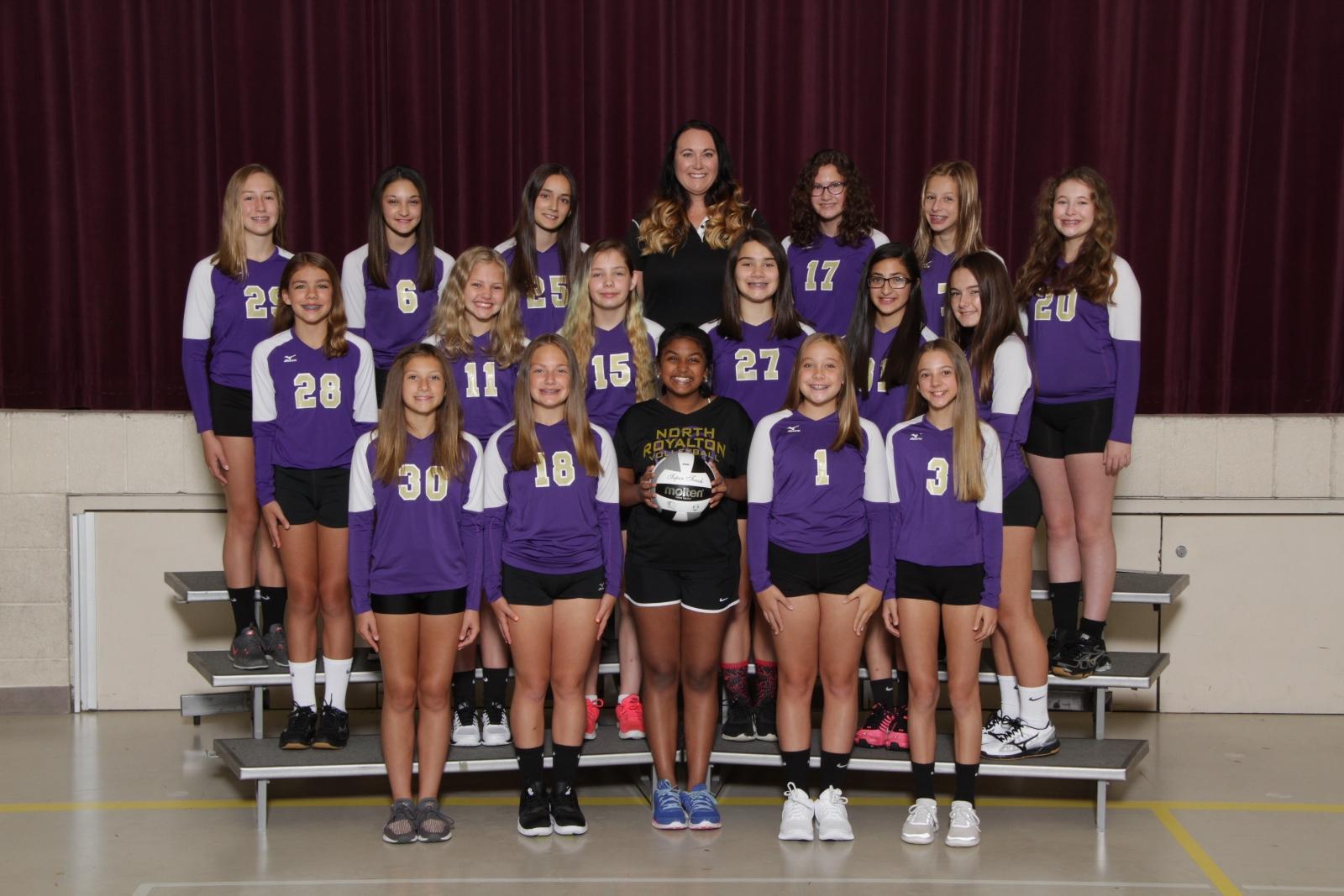 MS Girls 8th Grade Volleyball – 2018 Fall Sports Awards Winners