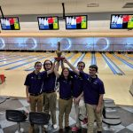 "Varsity Bowling Team Beats Brecskville and Secures ""Golden Pin"" 2061-1899"