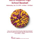 Chick-Fil-A Fundraiser This Wednesday January 23rd For The NRHS Boys Baseball Team