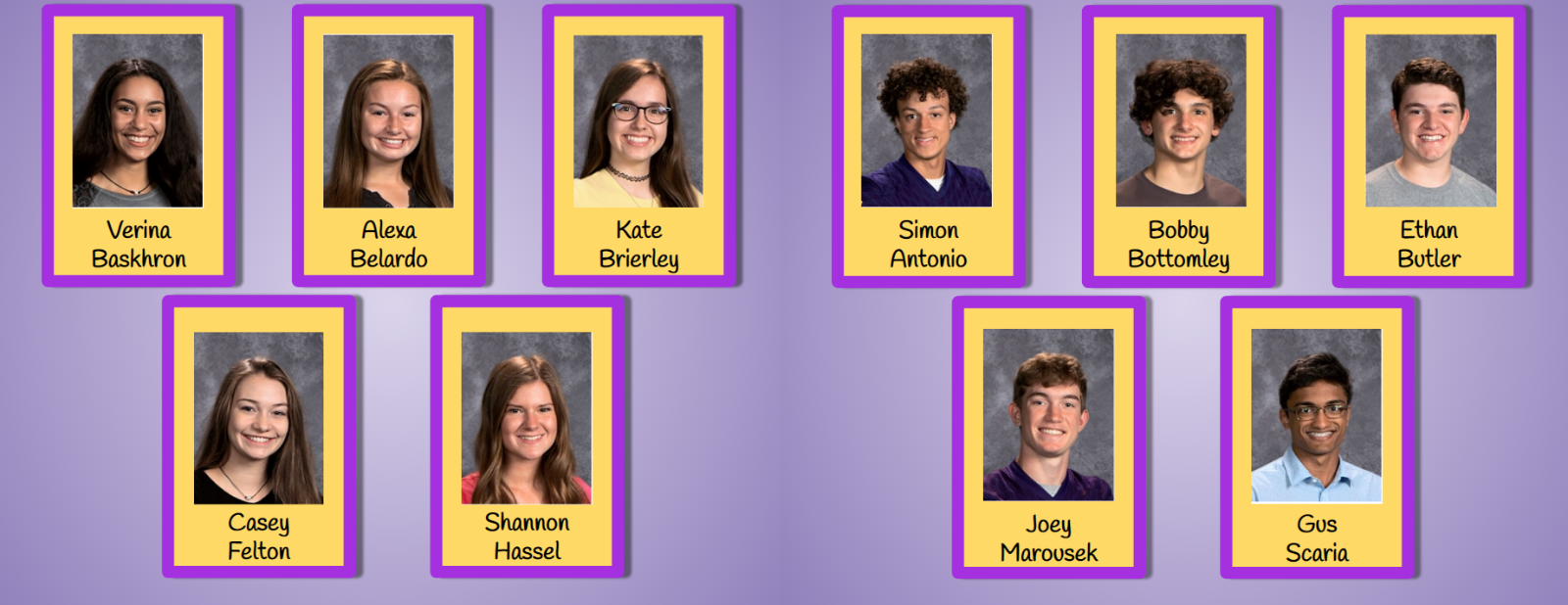 2019 North Royalton High School Homecoming Court