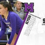 Alumni Alyssa Kasaris:  Ohio Athletic Conference Volleyball Defensive Player of the Week