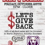 Wild Eagle Steak & Saloon – Dine & Donate – Friday, October 25th