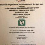 """2nd Annual Baseball Night Out"" on January 11, 2020!"