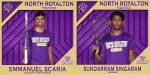 NRHS Class of 2020 Spring Senior Banners:  Emmanuel Scaria & Sundarram Singaram