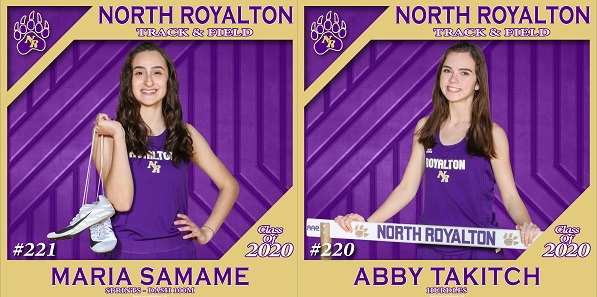 NRHS Class of 2020 Spring Senior Banners: Maria Samame & Abby Takitch