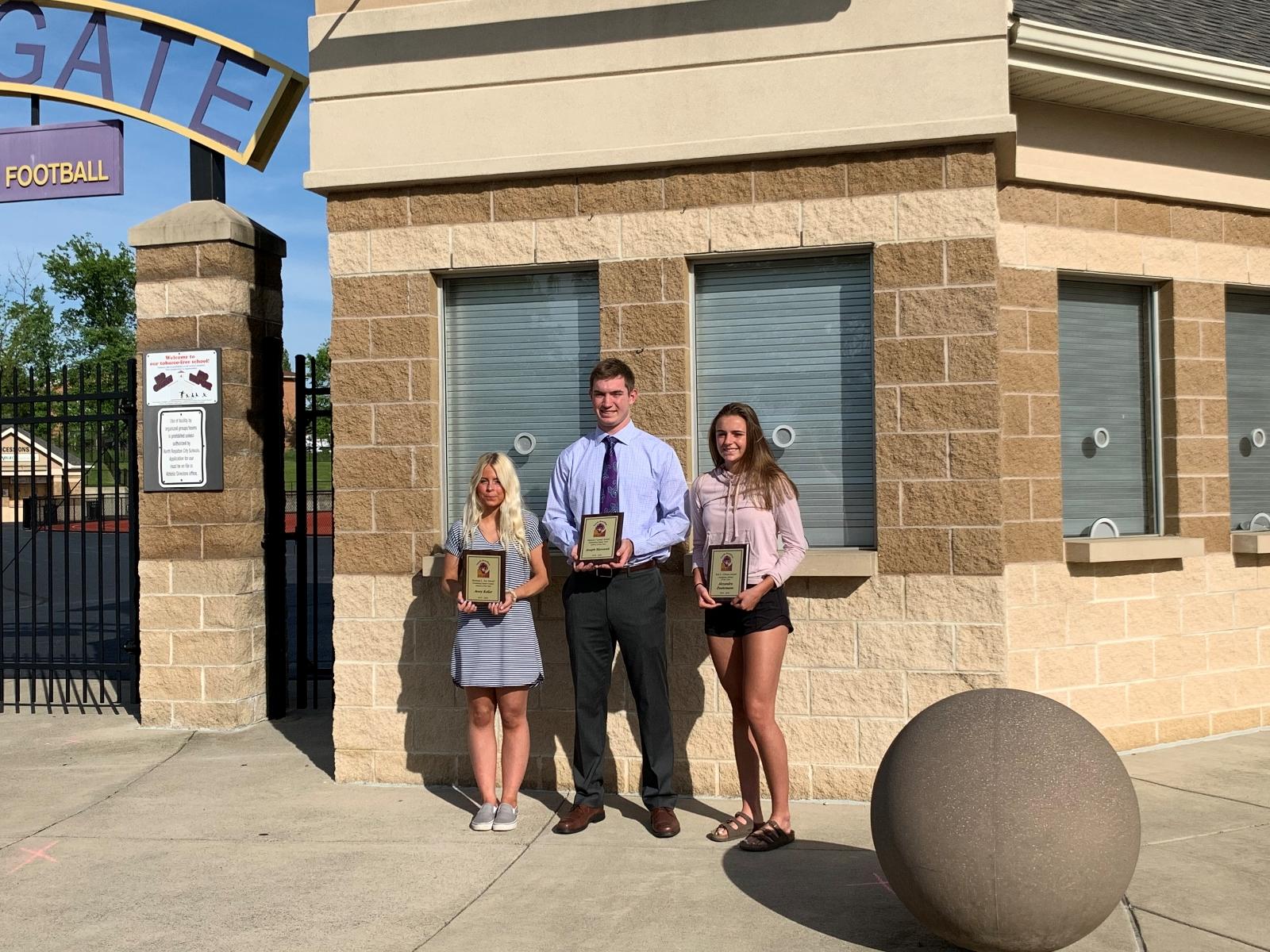 Royalton Recorder:  Marousek, Keller and Doehrmann Named North Royalton Athletes of the Year