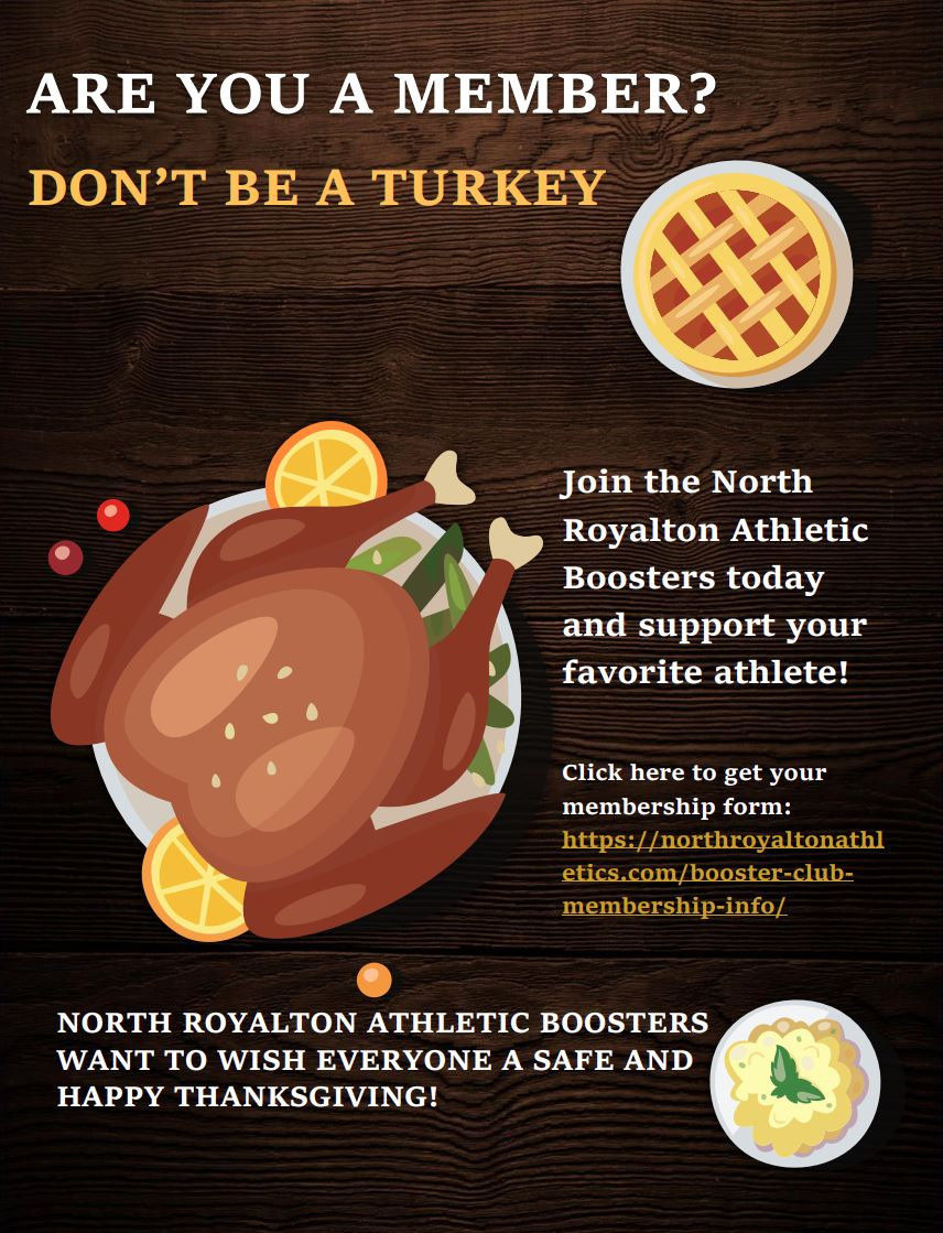 Join North Royalton Athletic Boosters Today!!