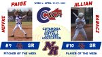 Congrats to Jillian Baracz & Paige Heffke – Week 4 CCSCA Players of the Week