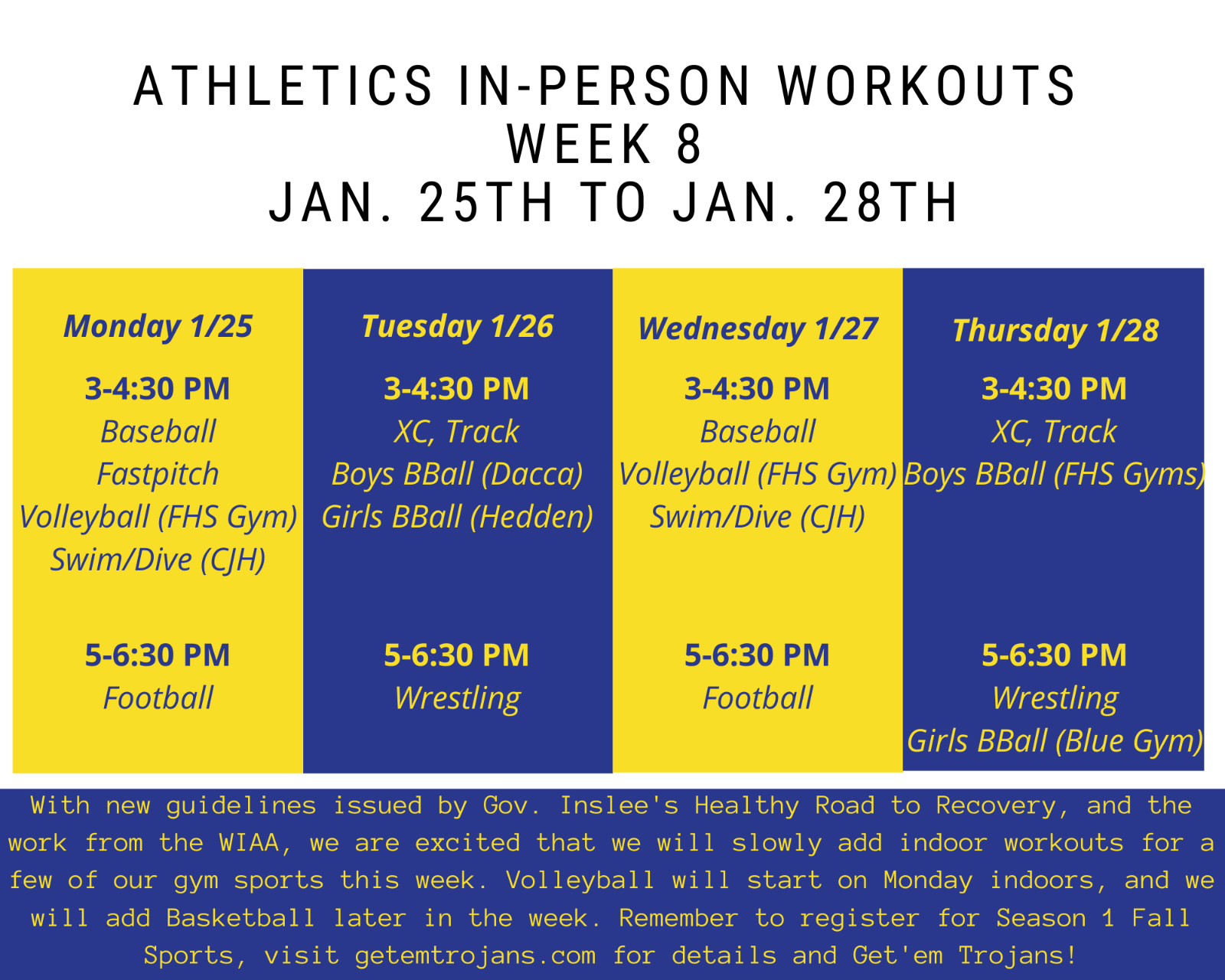 Week 8 In-person Workouts!