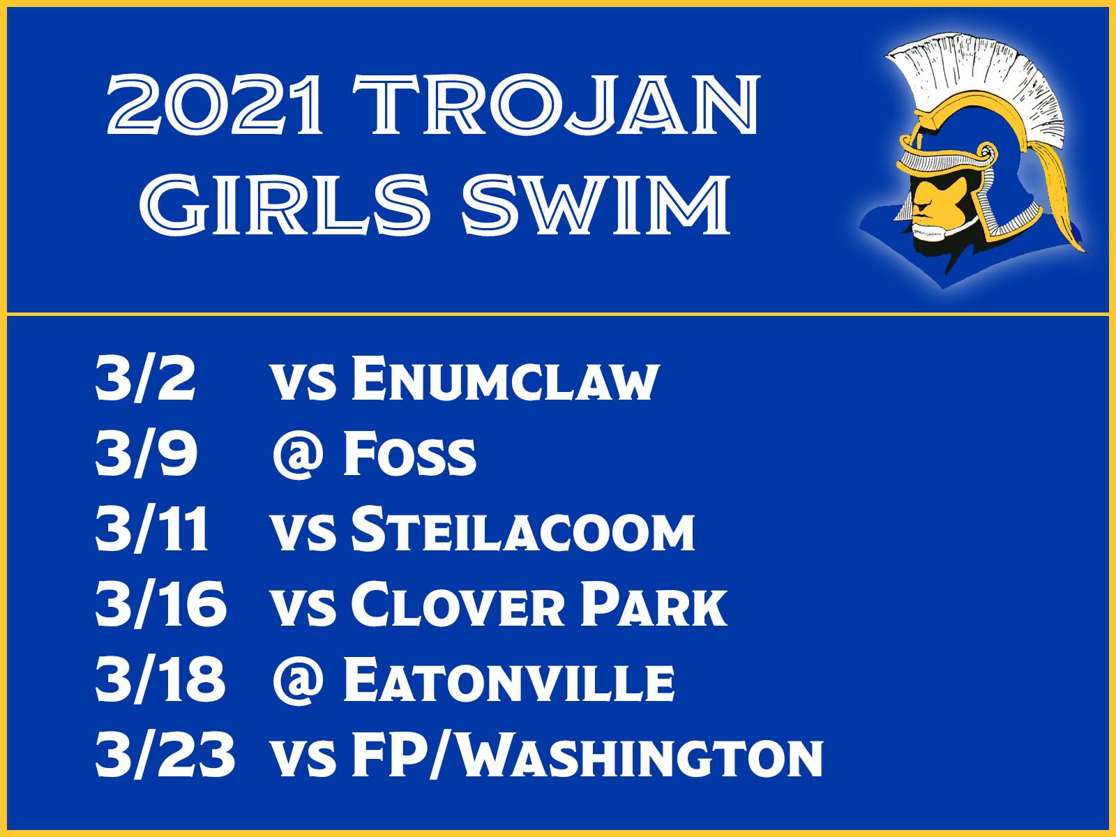 Girls Swim Schedule