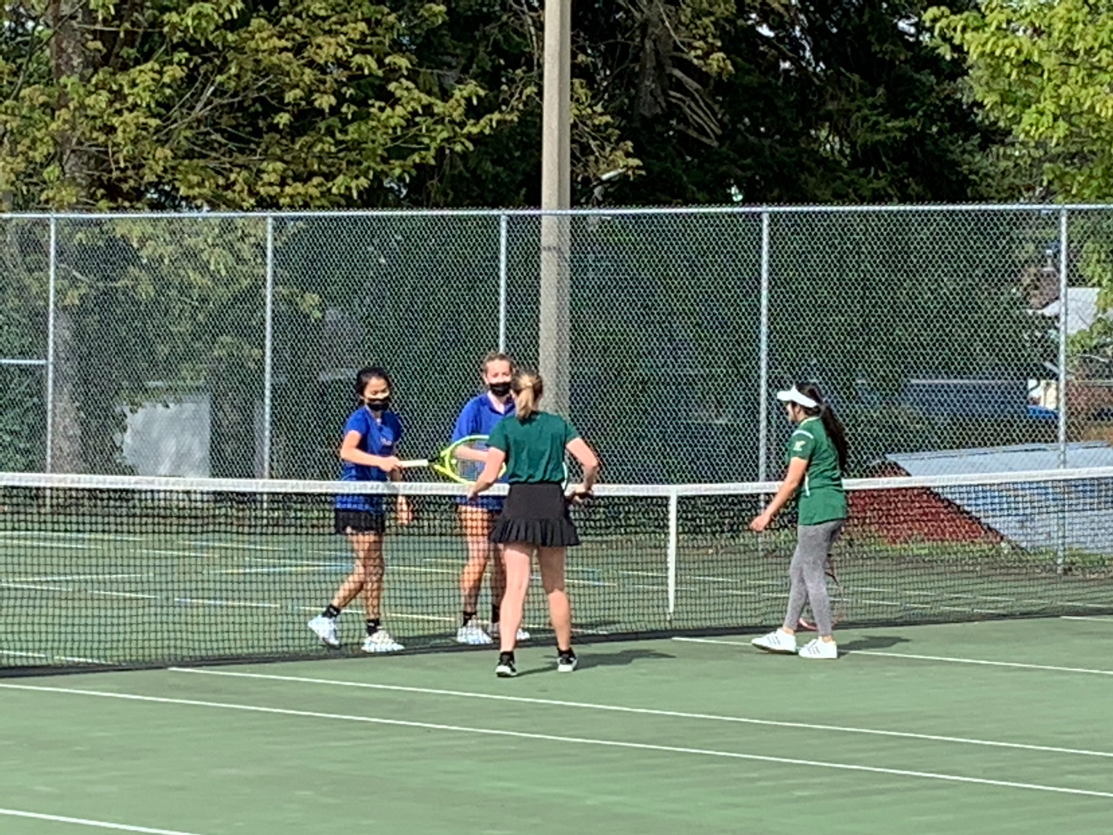 Fife Girls Tennis 5-0 over Clover Park with a surprise lineup change!