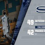 Boys Varsity Basketball beats Prairie 49 – 42