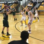 De Soto High School Girls Varsity Basketball falls to Shawnee Mission-West 45-49