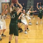 De Soto High School Girls Varsity Basketball beat Louisburg High School 55-31
