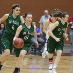 De Soto High School Girls Varsity Basketball falls to Wellington High School 57-62