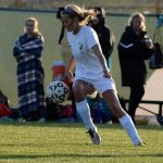 De Soto High School Girls Varsity Soccer beat Louisburg High School 2-0