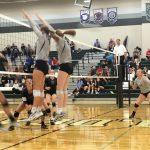 De Soto High School Girls Varsity Volleyball beat Baldwin High School 3-0