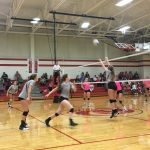 De Soto High School Girls Varsity Volleyball beat Ottawa High School 3-0