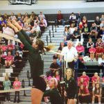 De Soto High School Girls Varsity Volleyball beat Mill Valley High School 2-1