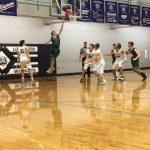 De Soto High School Boys Varsity Basketball falls to Louisburg High School 56-40
