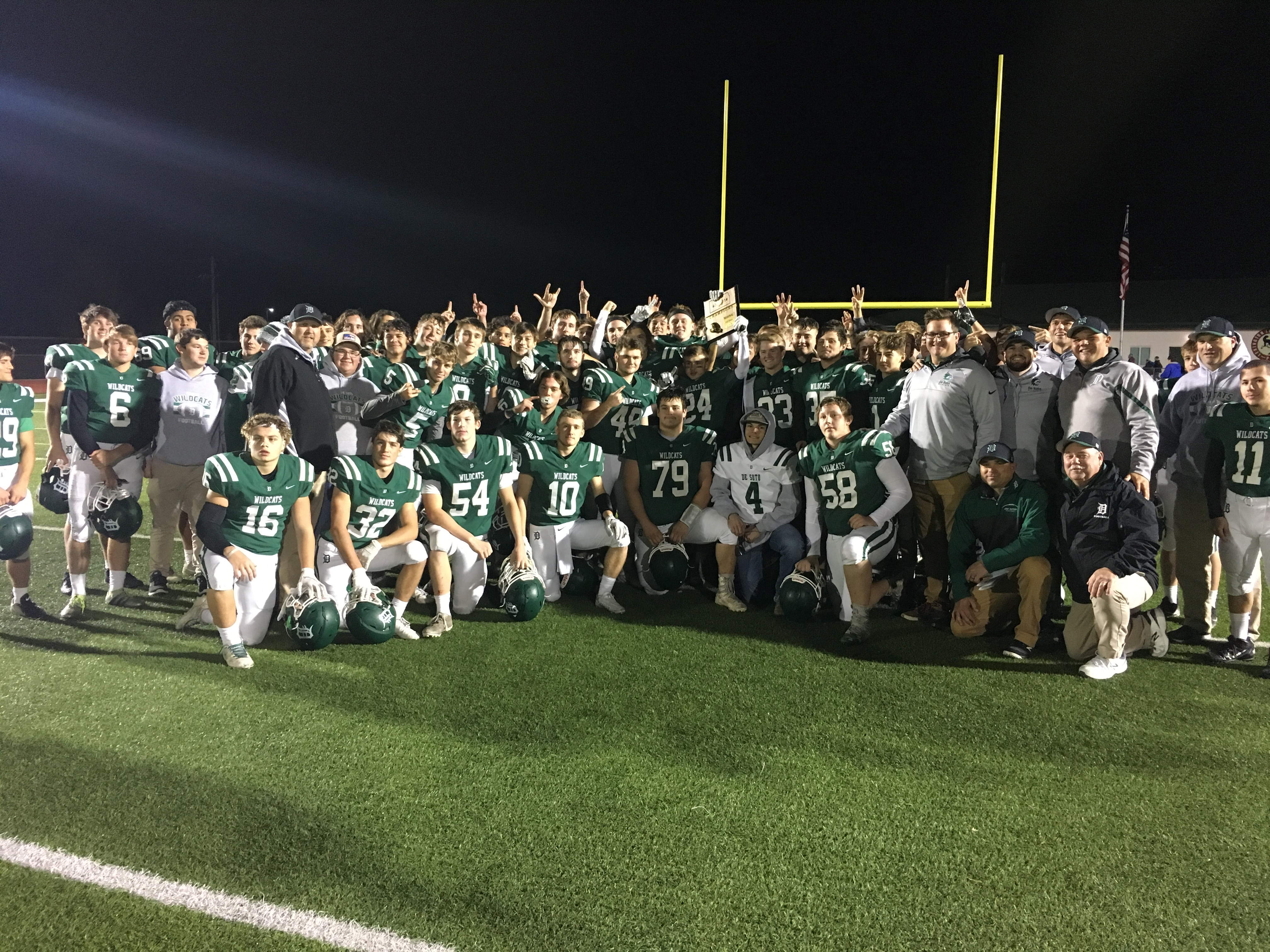 Varsity Football Claims a Regional Championship by Defeating Shawnee Heights 38-17