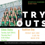 Diamonds Tryouts for 2019-20