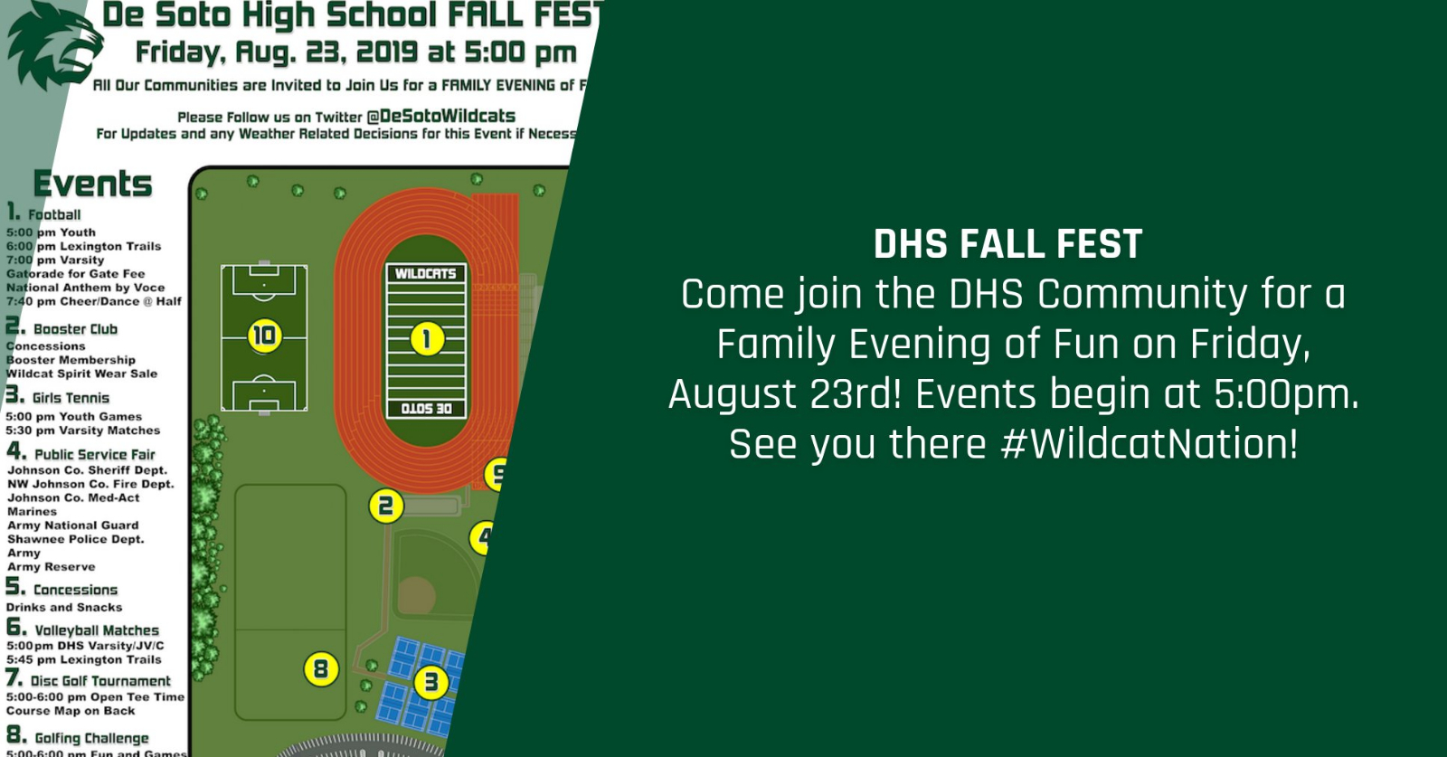 DHS Fall Fest is set for FRIDAY, AUG 23