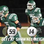 Varsity Football defeats Shawnee Heights 59-14