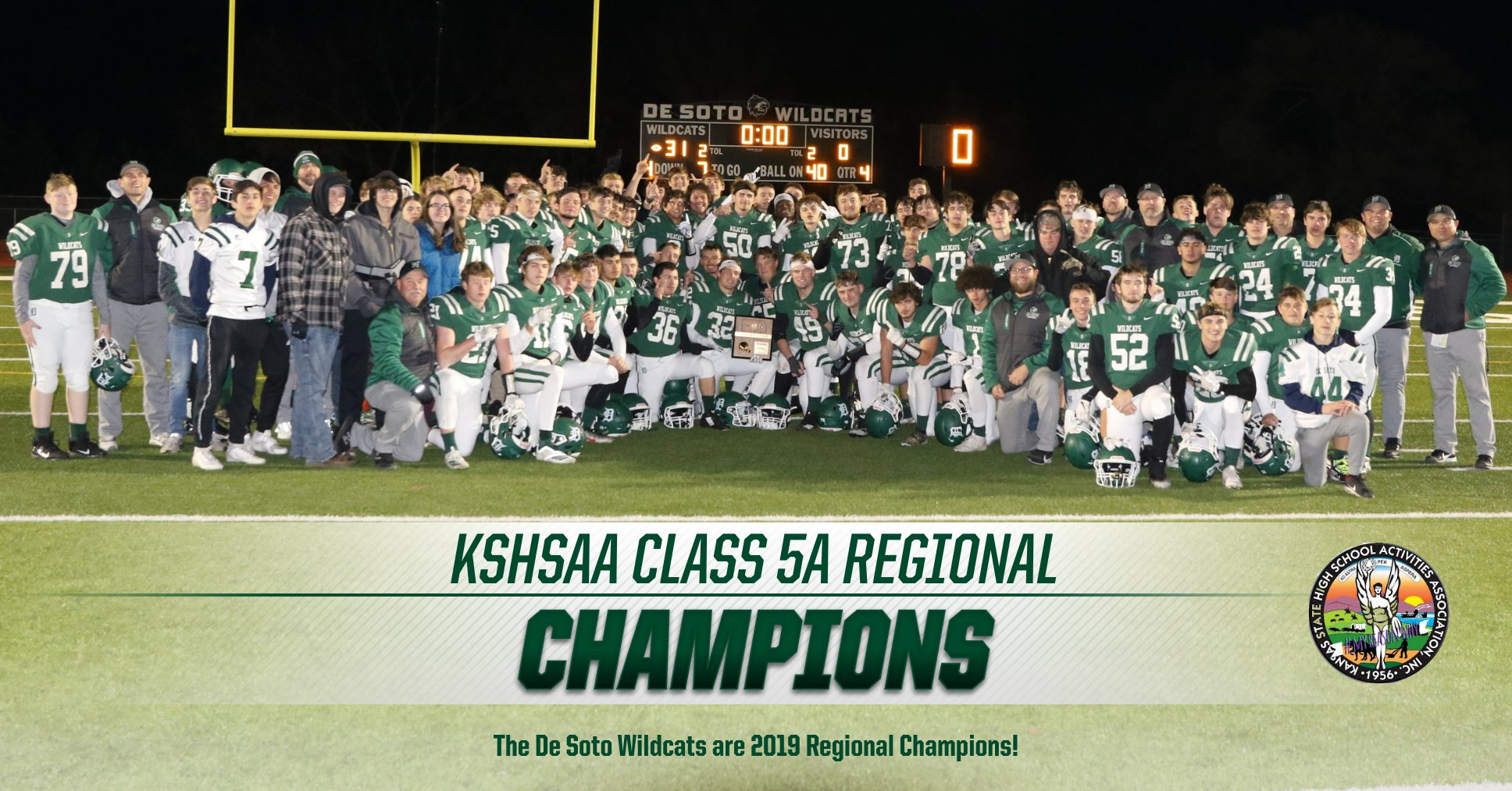 Wildcats Claim a Regional Championship with a 31-0 Win over Shawnee Heights