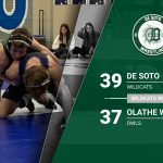 Varsity Wrestling defeats Olathe West 39 – 37